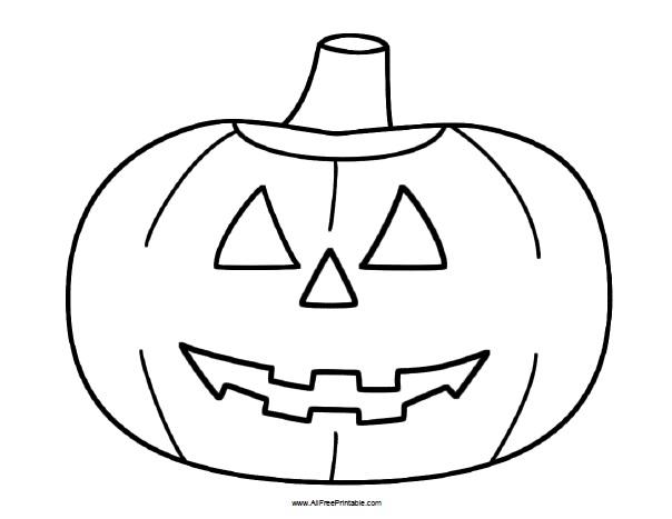 Halloween Pumpkin Coloring Page Free Printable Allfreeprintable Com