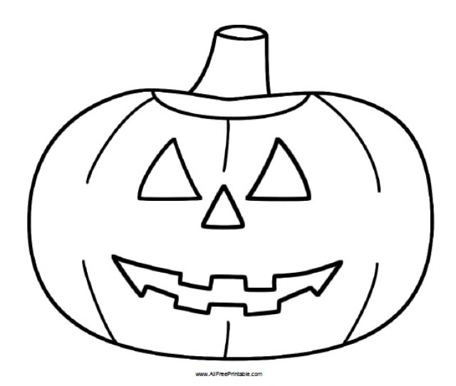 Halloween Pumpkin Coloring Page Free Printable