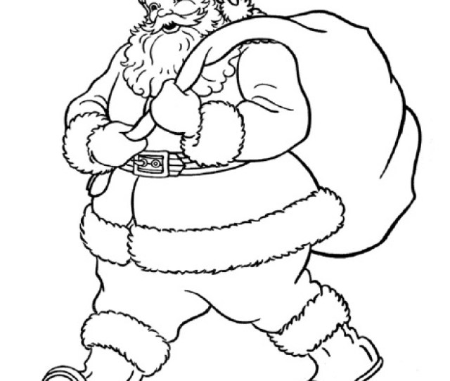 Santa Claus Coloring Page Free Printable Allfreeprintable Com