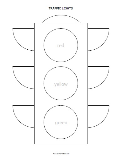traffic lights coloring page free printable allfreeprintable com
