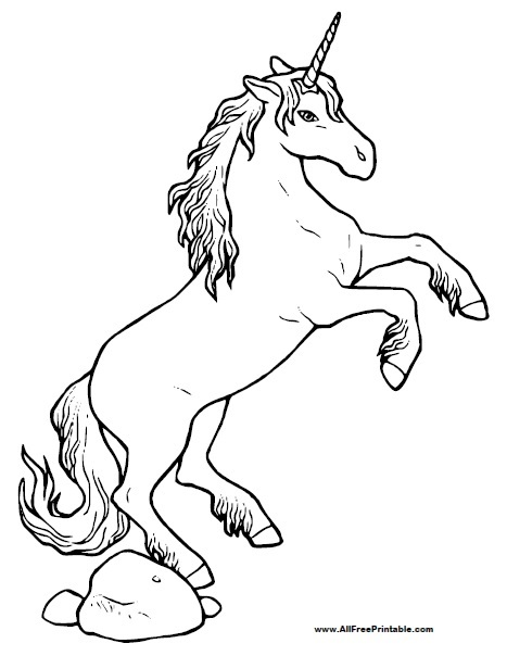 printable unicorn coloring pages # 7