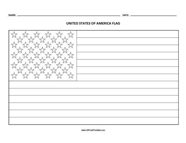 Us Flag Coloring Page Free Printable Allfreeprintable Com