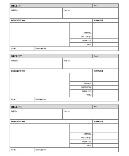 Free Rent Receipts Templates rent receipt template 10 free word – Free Receipts