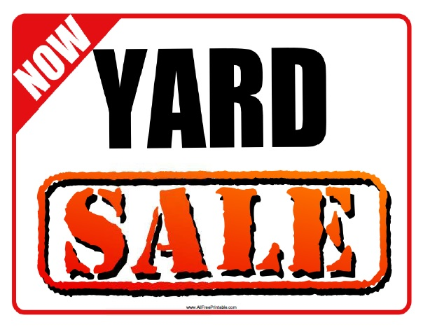 yard printable sale signs free