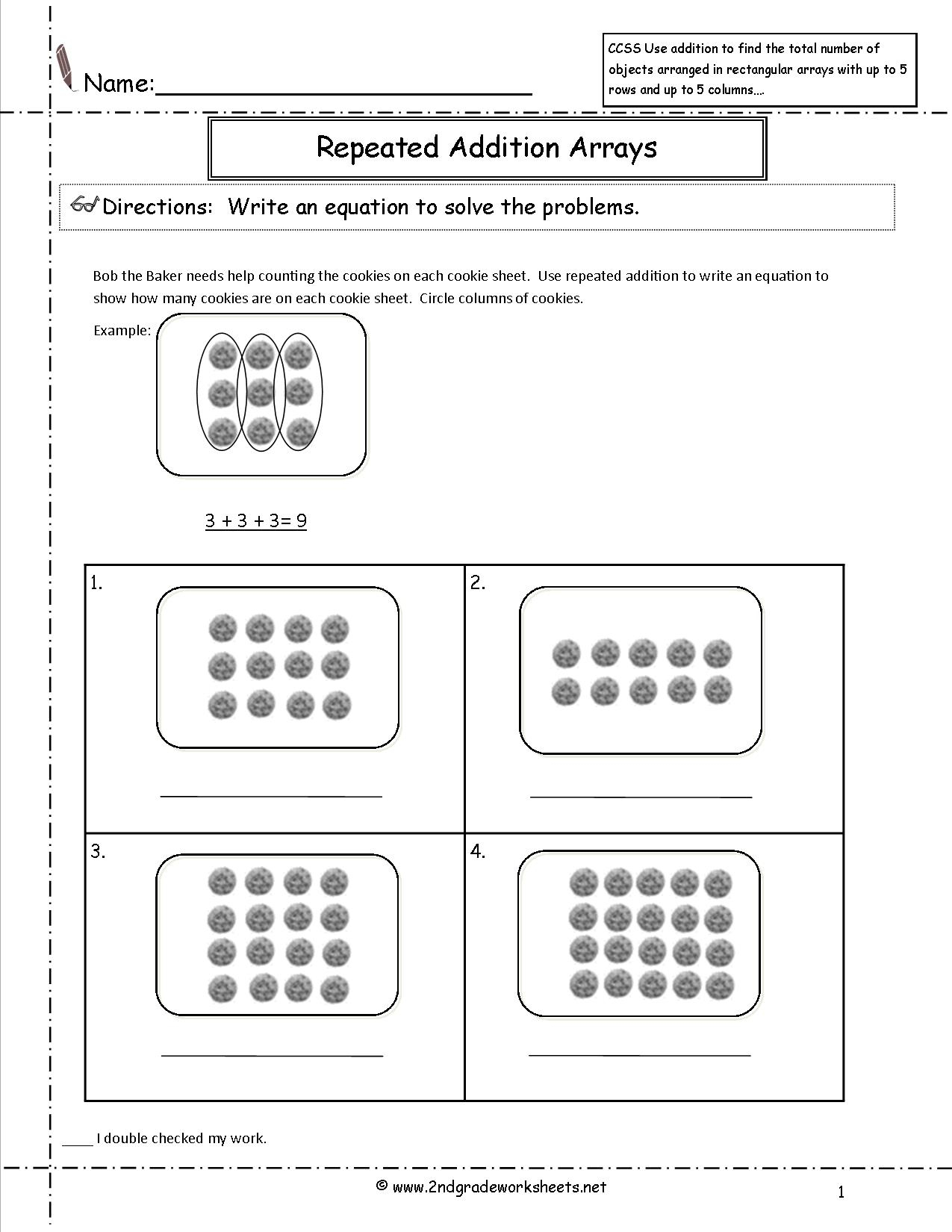 Free Printable Common Core Math Worksheets For Third Grade