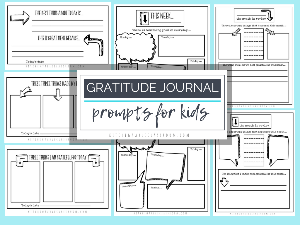 Free Printable Gratitude Worksheets