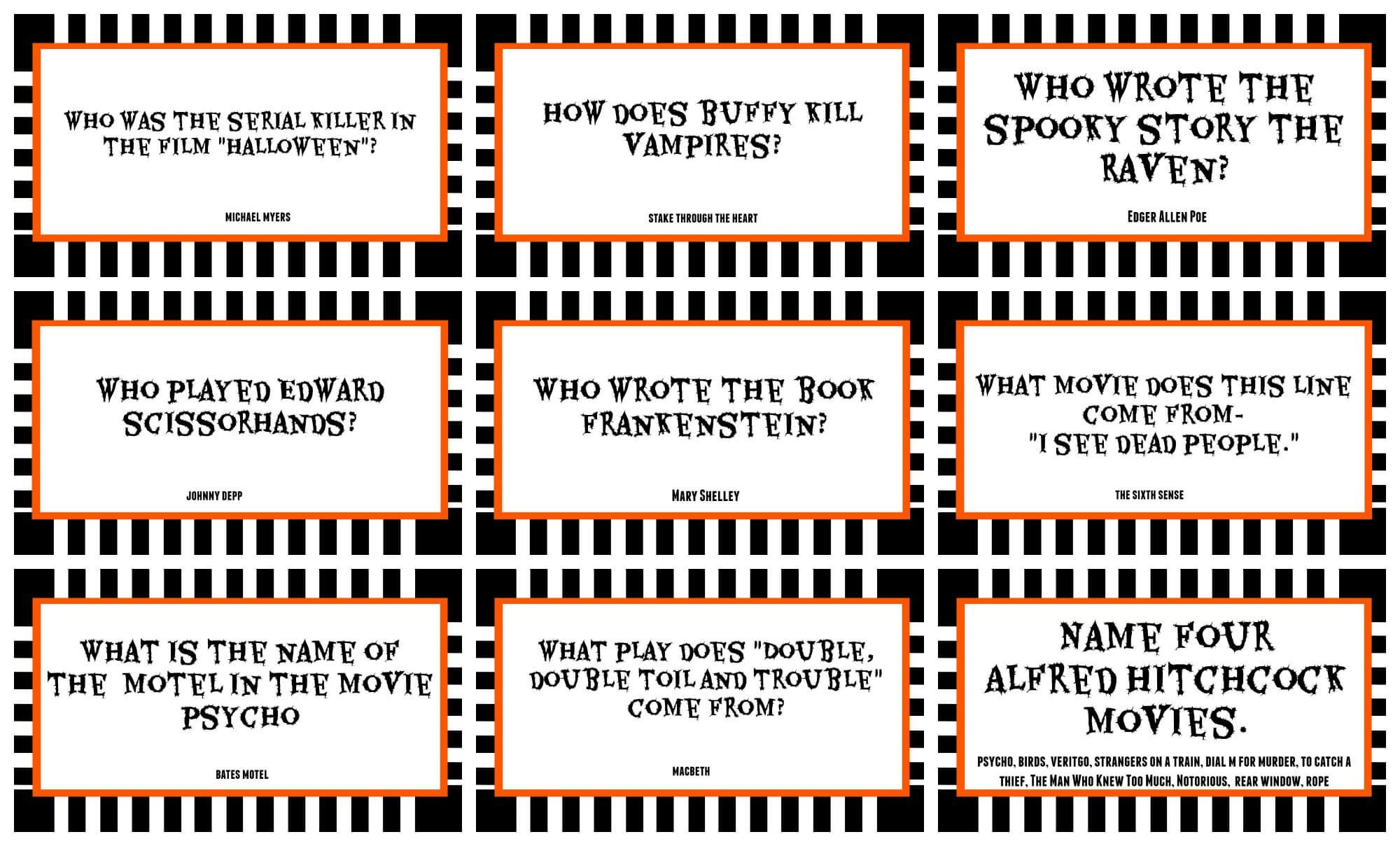 Halloween Trivia Questions And Answers Free Printable