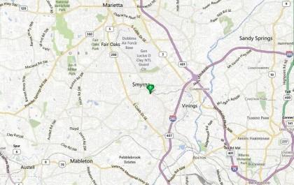 Map Location Smyrna Villas At Montclair