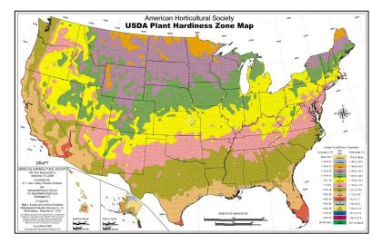 Plant Zoning Map With Zone Numbers