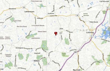 Map Location Cumming GA Ivey Manor Community