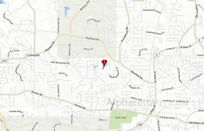 Alpharetta Map Mayfield Neighborhood Location