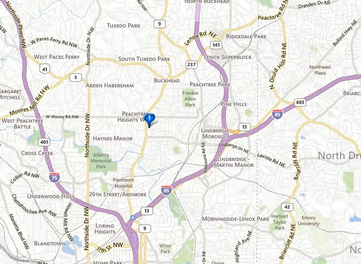 Peachtree Georgia Map.All Georgia Realty Deborah Weiner Re Maxatlanta Georgia Map Location