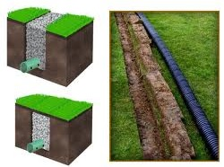 construccion de drenaje jardin