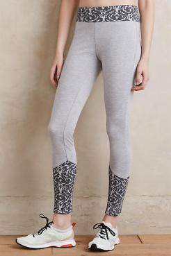 jacquard-trimmed leggings