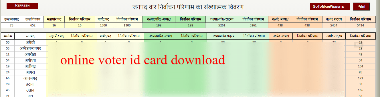 up voter id card