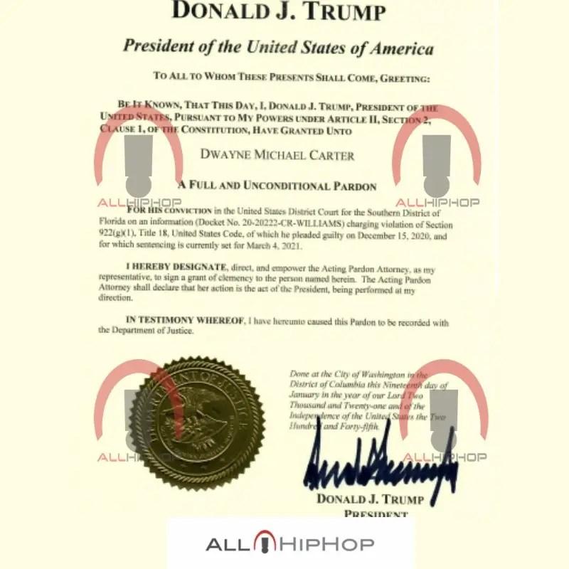 President Donald Trump's Pardon Of Lil Wayne