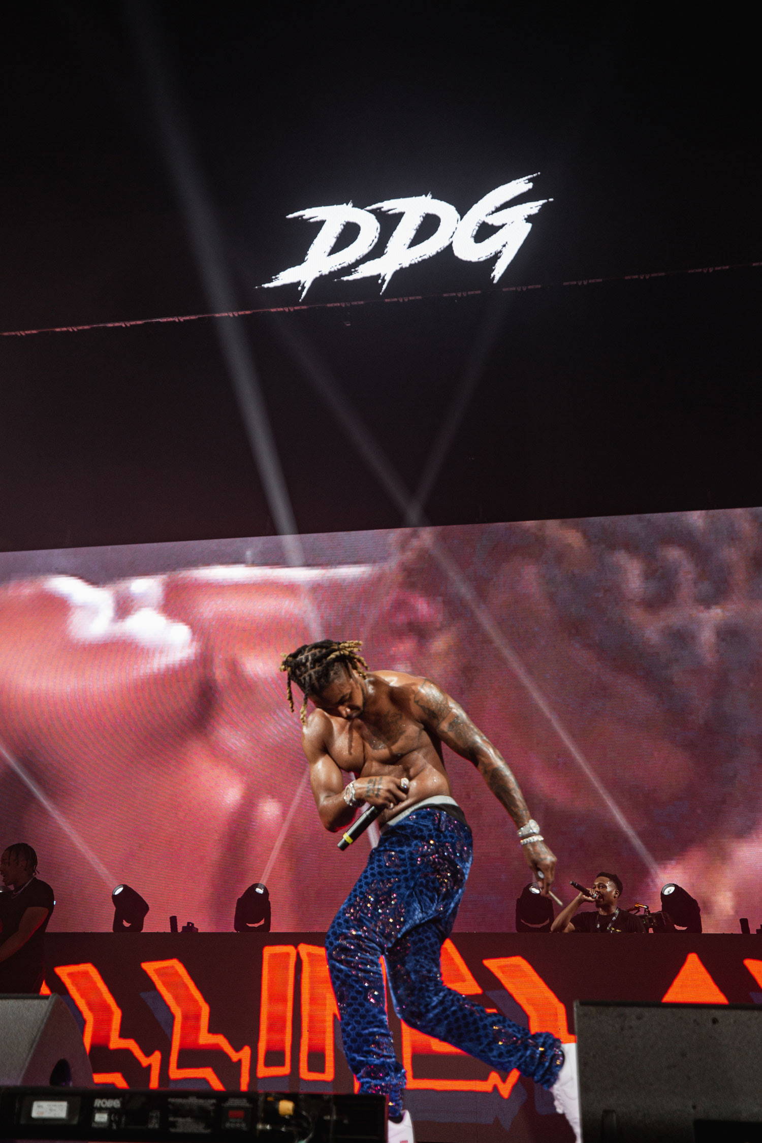 Detroit-area rapper DDG completes his transformation from YouTuber to rap star at the Monster Stage (Credit: Rolling Loud / @justnjames)
