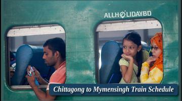 Chittagong to Mymensingh Train Schedule