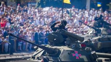 Ukrainian military parade image
