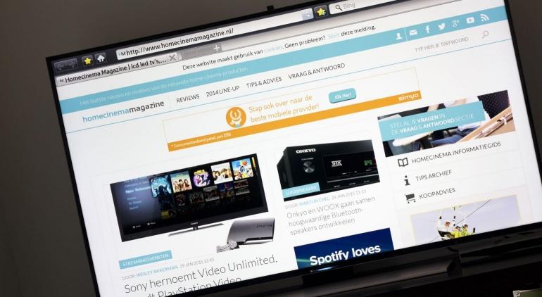 Samsung HU8500 review browser