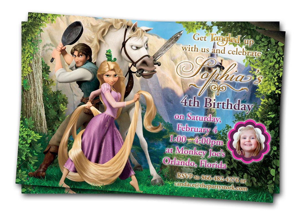 tangled birthday party invitations home party ideas
