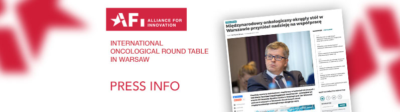 Press Info – International Oncological Round Table in Warsaw