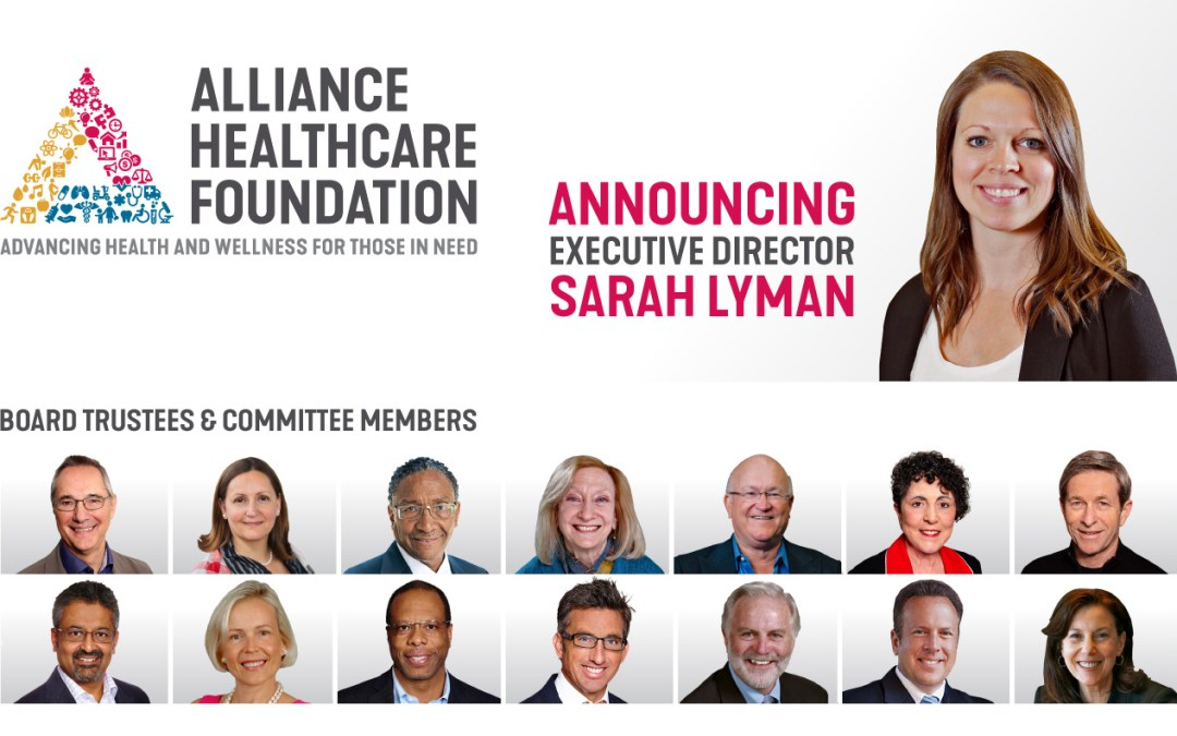 Alliance Healthcare Foundation Announces New Executive Director, Sarah Lyman