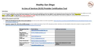CalAIM ILOS Provider Certification Tool