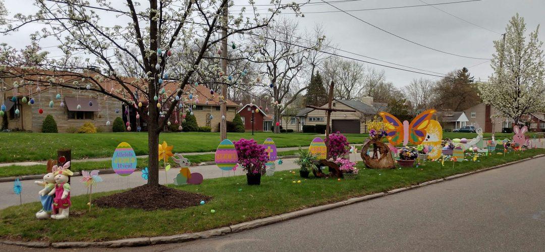 E. Milton Easter decorations
