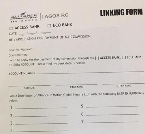 aim global linking form