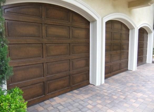 Faux wood garage door Round Rock