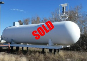 18,000 gallon skidded propane storage tank