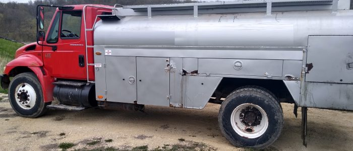 Used International fuel truck for sale