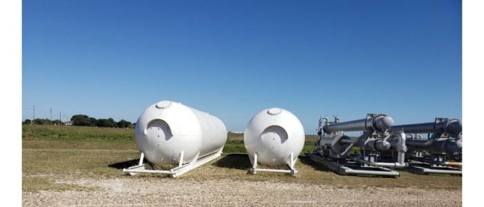 Used 18,000 gallon propane skid tanks