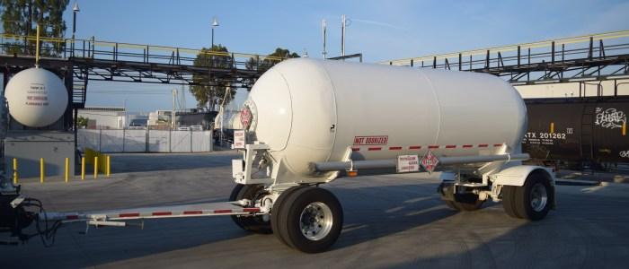 Used propane transport trailer