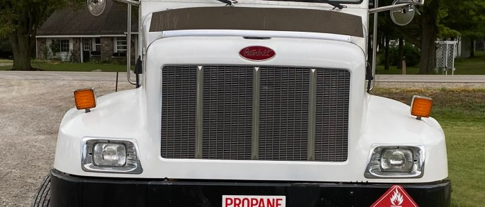 Used Peterbilt PB330 propane delivery truck for sale
