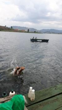 Got to go swimming in a lake...felt like home!