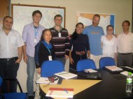 Ro's CELESC group: Neissan, Marcio, Nancy, Diego, Jane, Ana & Tadeusz (the incoming teacher)
