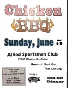 Alied Sportsmen Chicken Barbecue and Open Trap