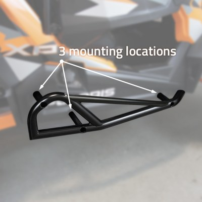1004-BK Polaris RZR Nerf Bars by Allied Powersports Mounting Locations