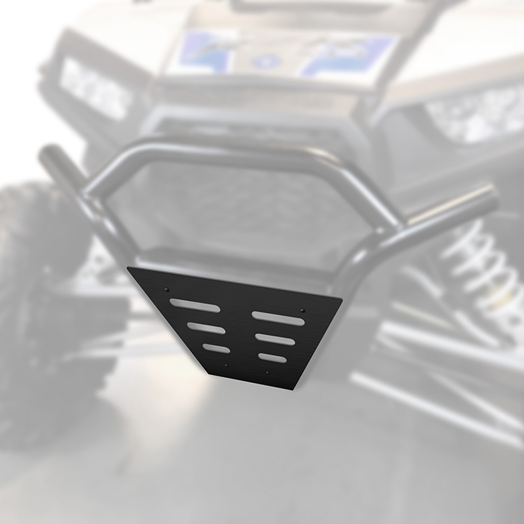 Black 1003-BK Allied Powersports Steel Front Bumper for Polaris RZR