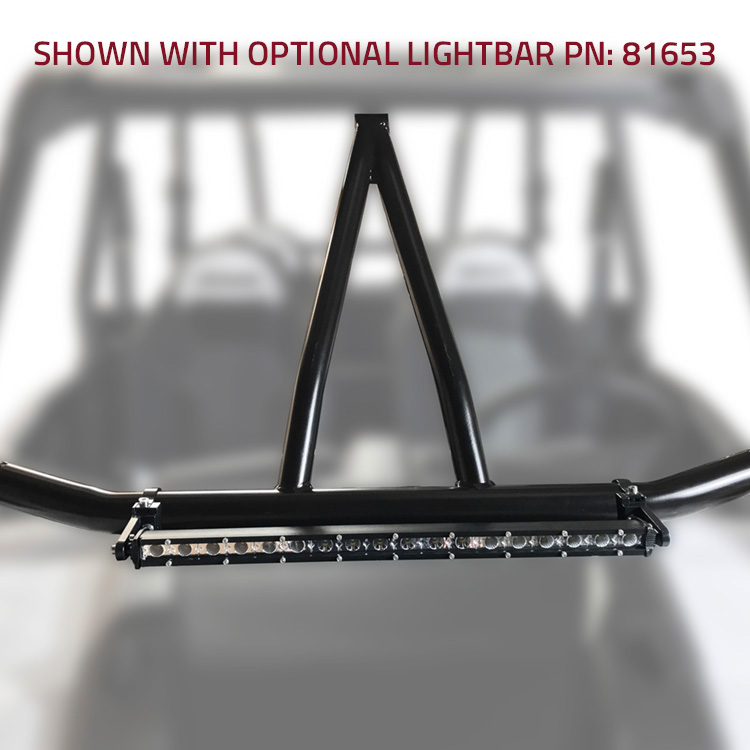 Allied Powersports 1012 RZR Steel Intrusion Bar with Light and Bracket