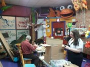A busy building night - all volunteer