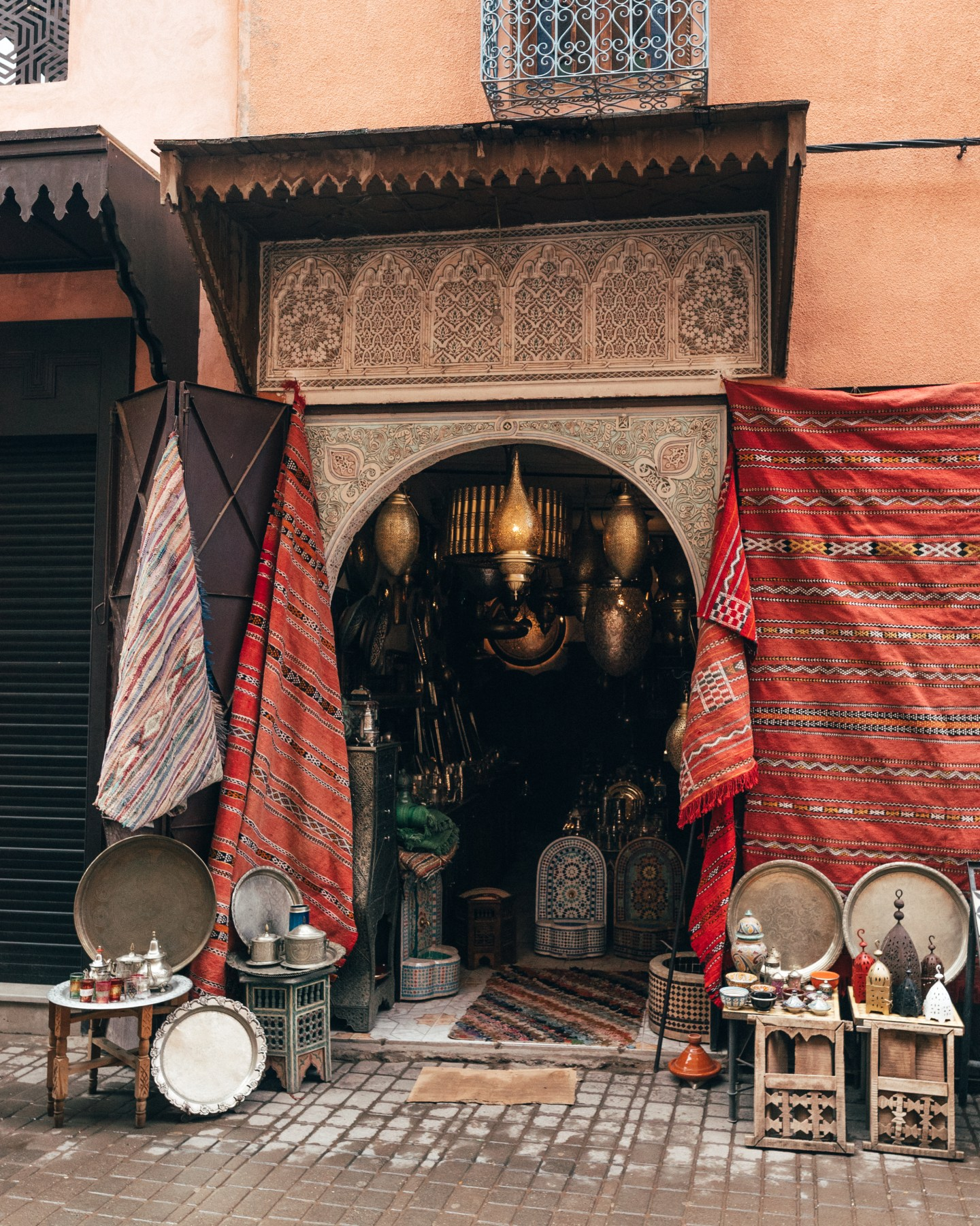 Carpet store in the souks of Marrakech