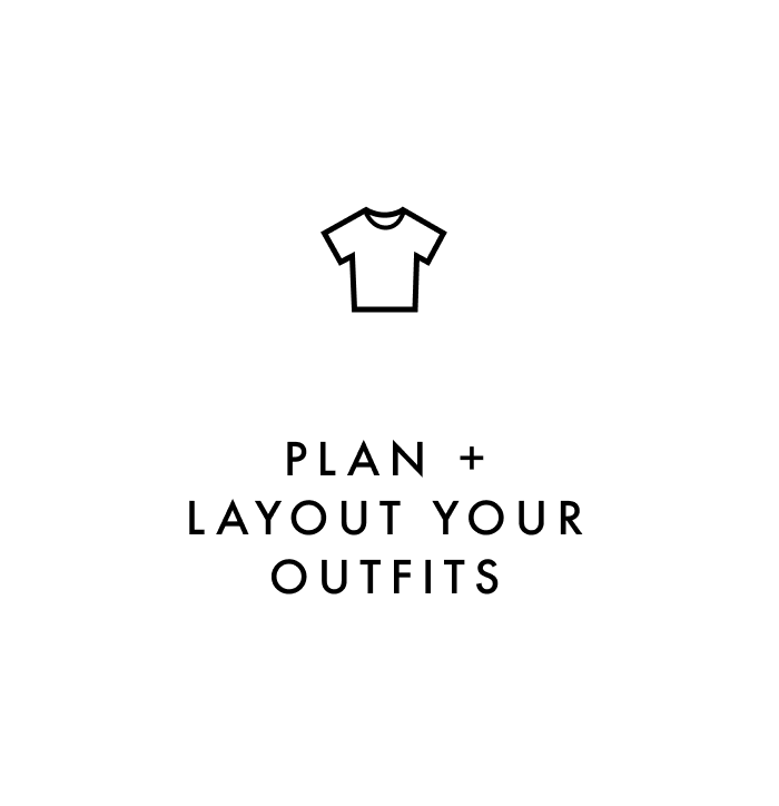 Carry on packing tip #2: Plan and layout your outfits