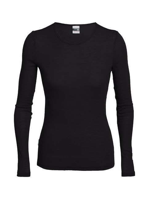Black Long Sleeve Thermal Top