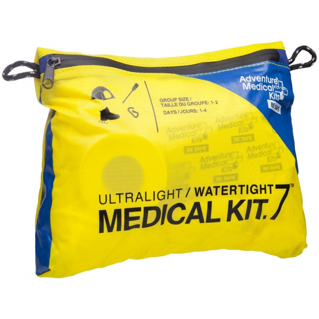 Yellow and blue waterproof medical kit