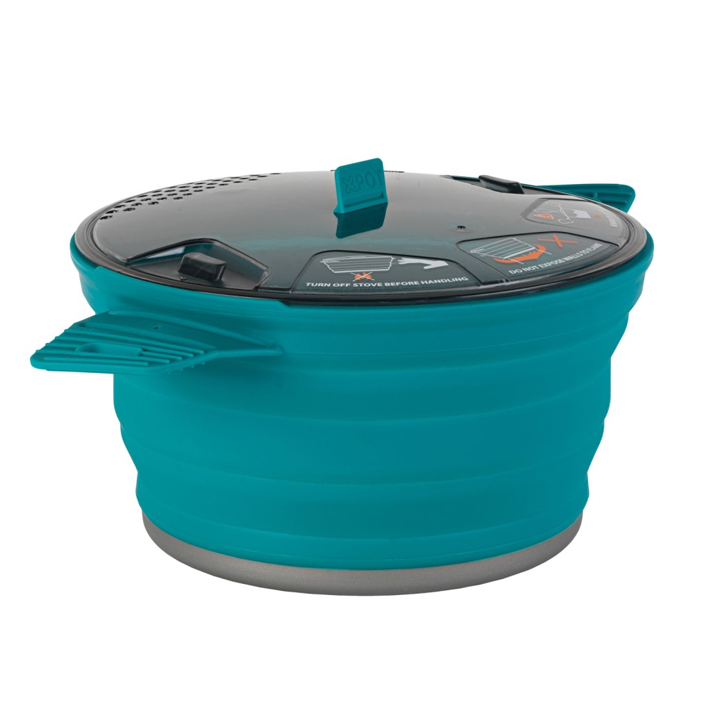 Blue Collapsible Camping Stove Pot