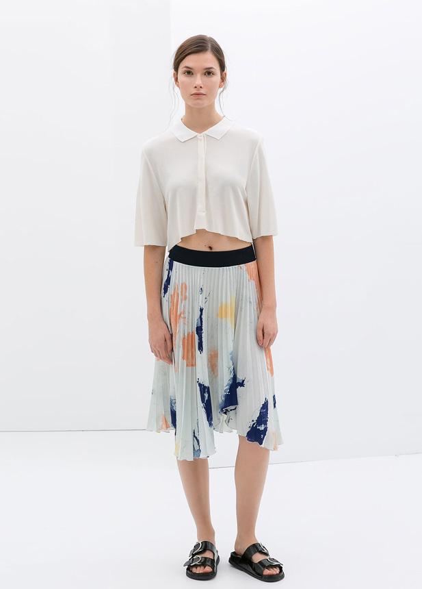 Pleated-Skirt-floral-Zara