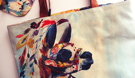 A Beautiful Illustrated Tote From Anthropologie and My Answer to too Much Black